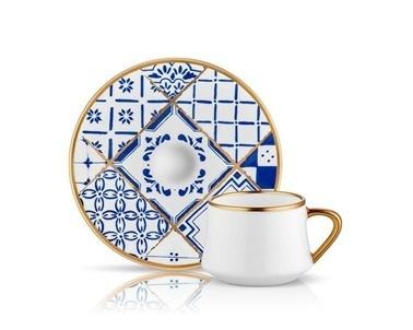 Koleksiyon Sufi İznik 6 Lı Türk Kahvesi Fincanı Renkli